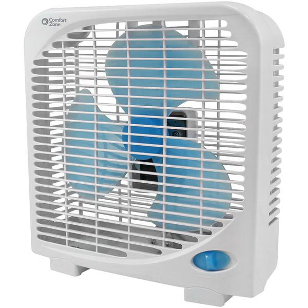 Comfort Zone Portable Box Fan - 9""