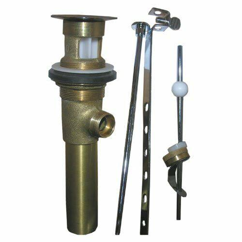 Larsen Supply Polished Lavatory Pop Up Drain Assembly - Brass Plated