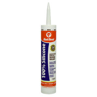 Red Devil 100% Silicone Sealant - White