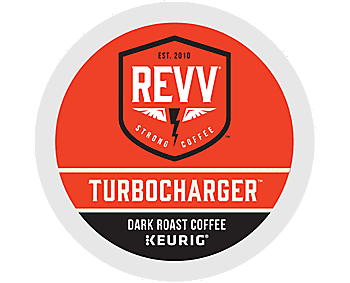 REVV TURBOCHARGER - Coffee (pod) - 9.2 oz - arabica, robusta - pack of 24