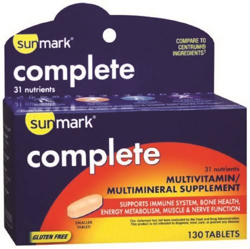 Sunmark Complete Multivitamin/Multimineral Supplement Tablets - x130