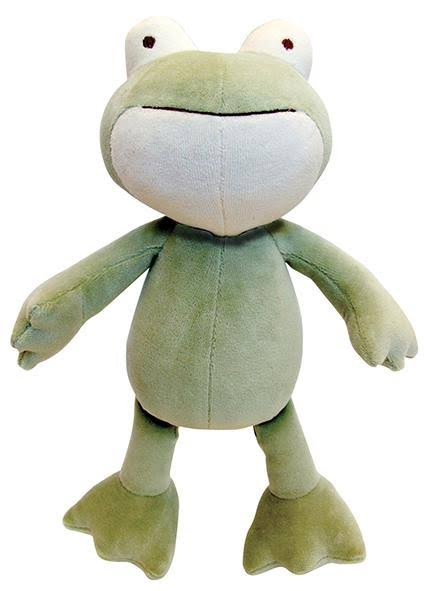 Simply Fido Eddie Frog Dog Toy - Green, 10in