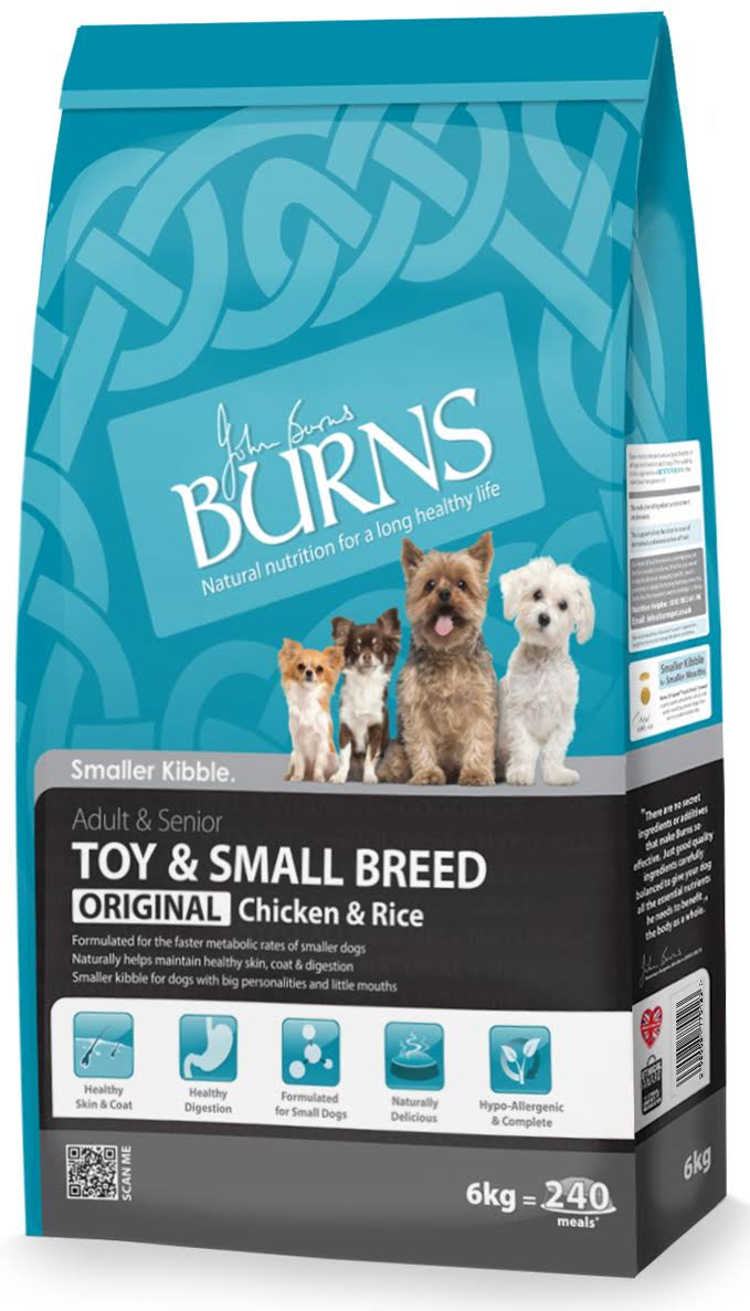 Burns Toy & Small Breed Chicken & Rice Dry Food