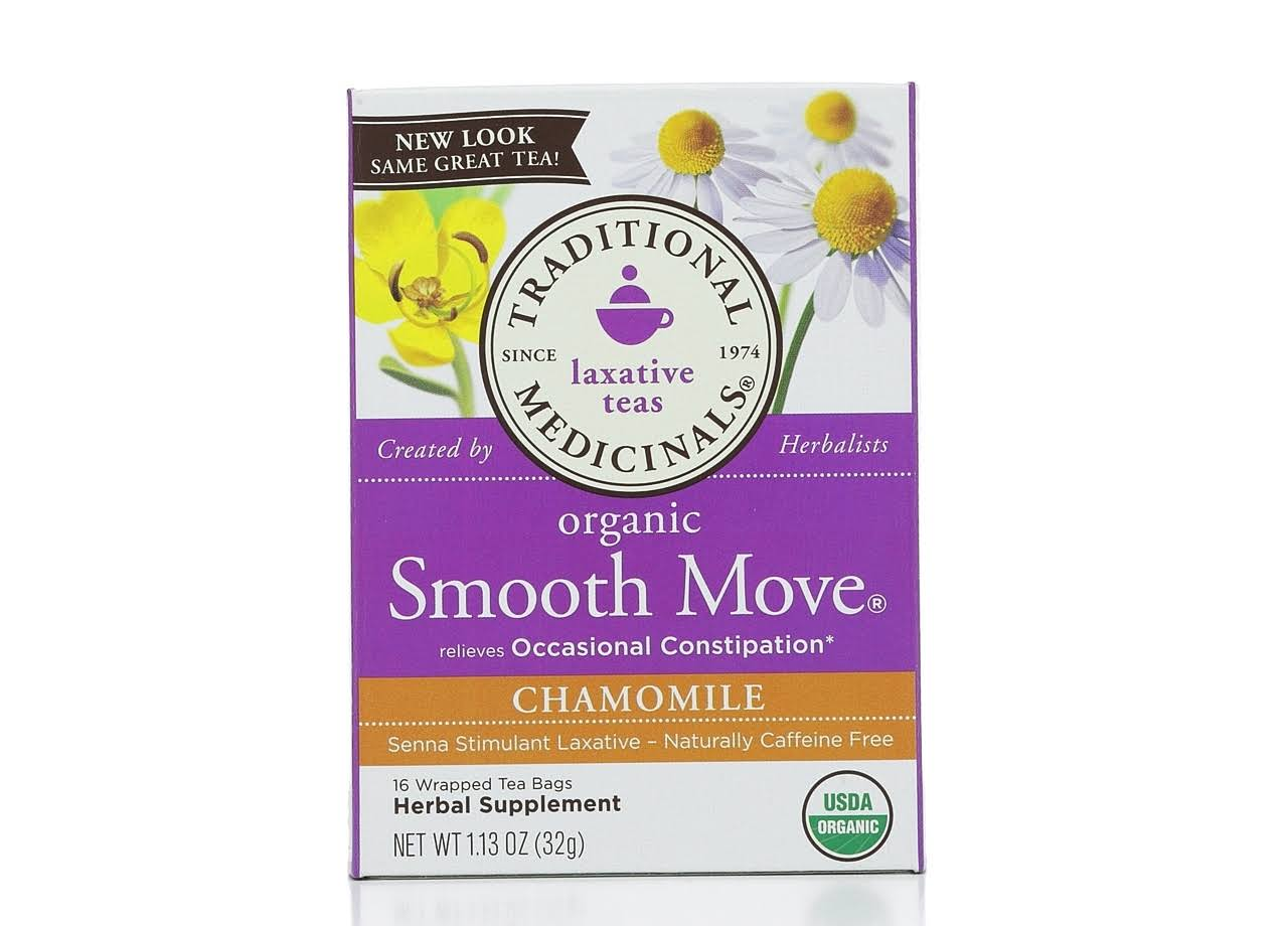 Traditional Medicinals Chamomile Smooth Move Tea - 16 bags, 1.13 oz box