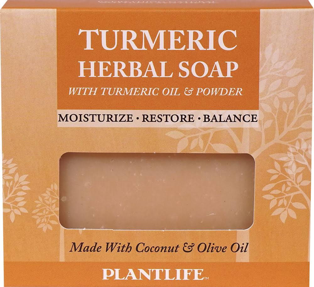 Plantlife Turmeric Herbal Soap with Turmeric Oil and Powder - 4.5 oz