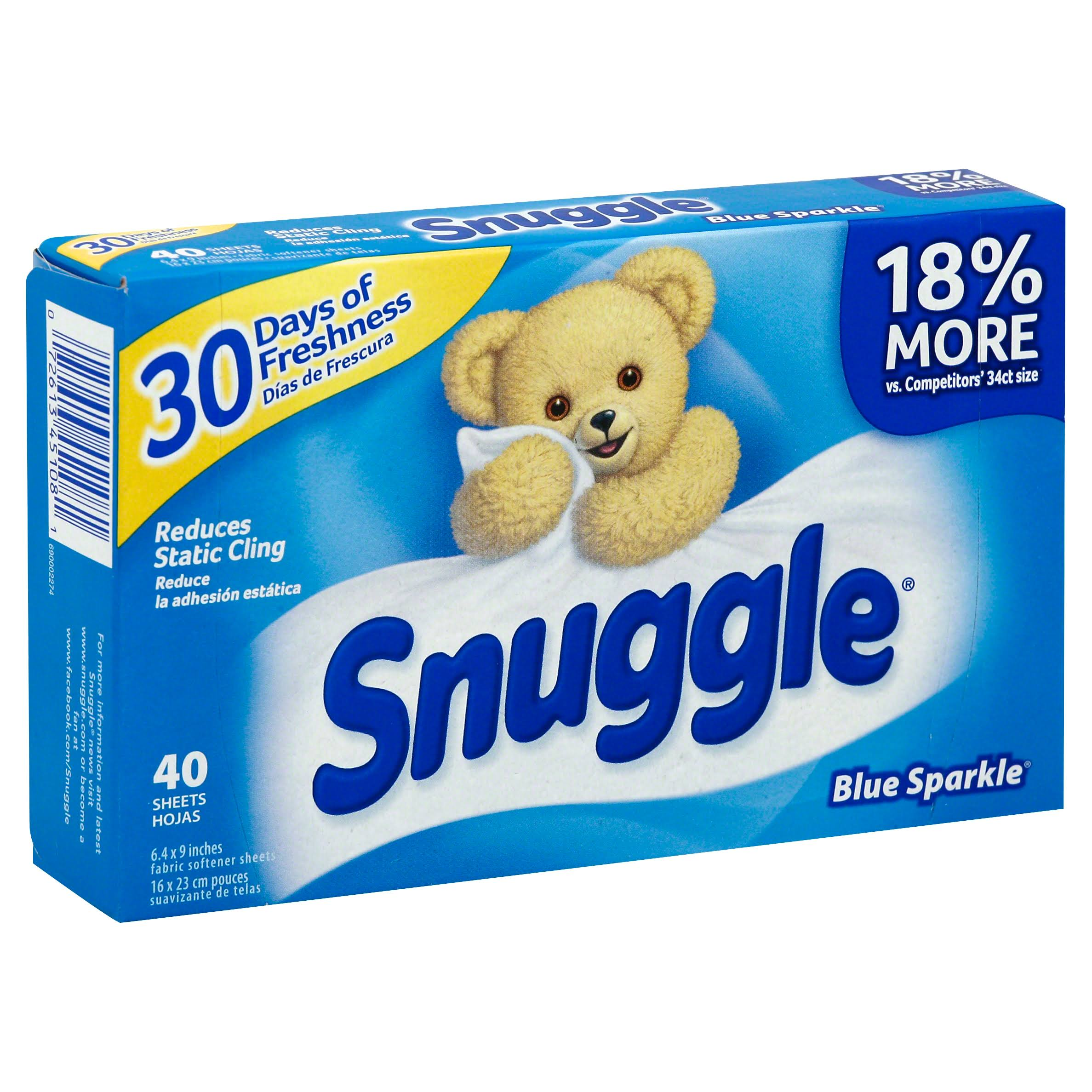 Snuggle Blue Sparkle Fabric Conditioner Sheets - 40pk