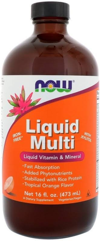 Now Foods Liquid Multi - Tropical Orange Flavor, 473ml