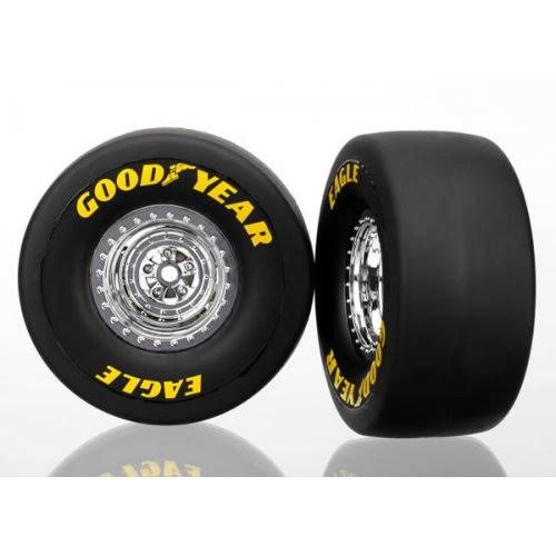 Traxxas Funny Car Tires & Wheels - Rear, 2pcs