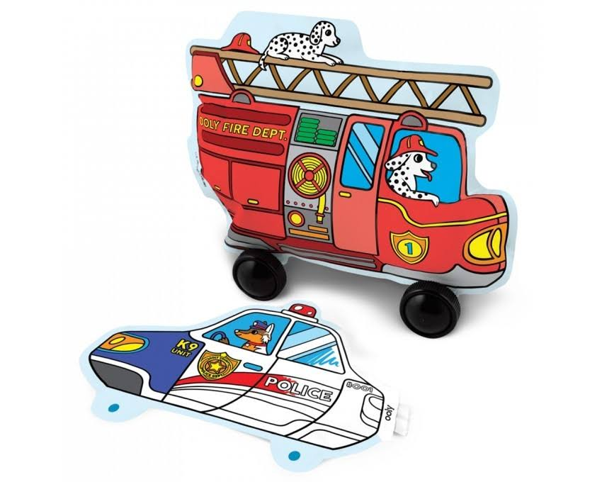 Ooly 3D Colorables Balloons - Rescue Vehicles, Set of 2