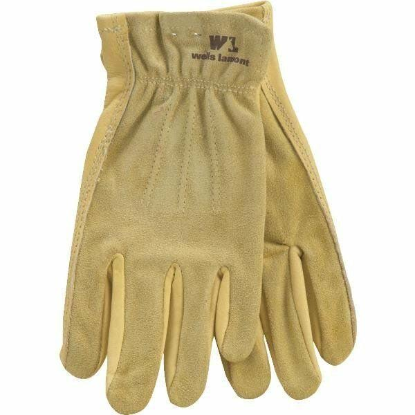 Wells Lamont Grips Genuine Leather Gloves, Women's, Medium