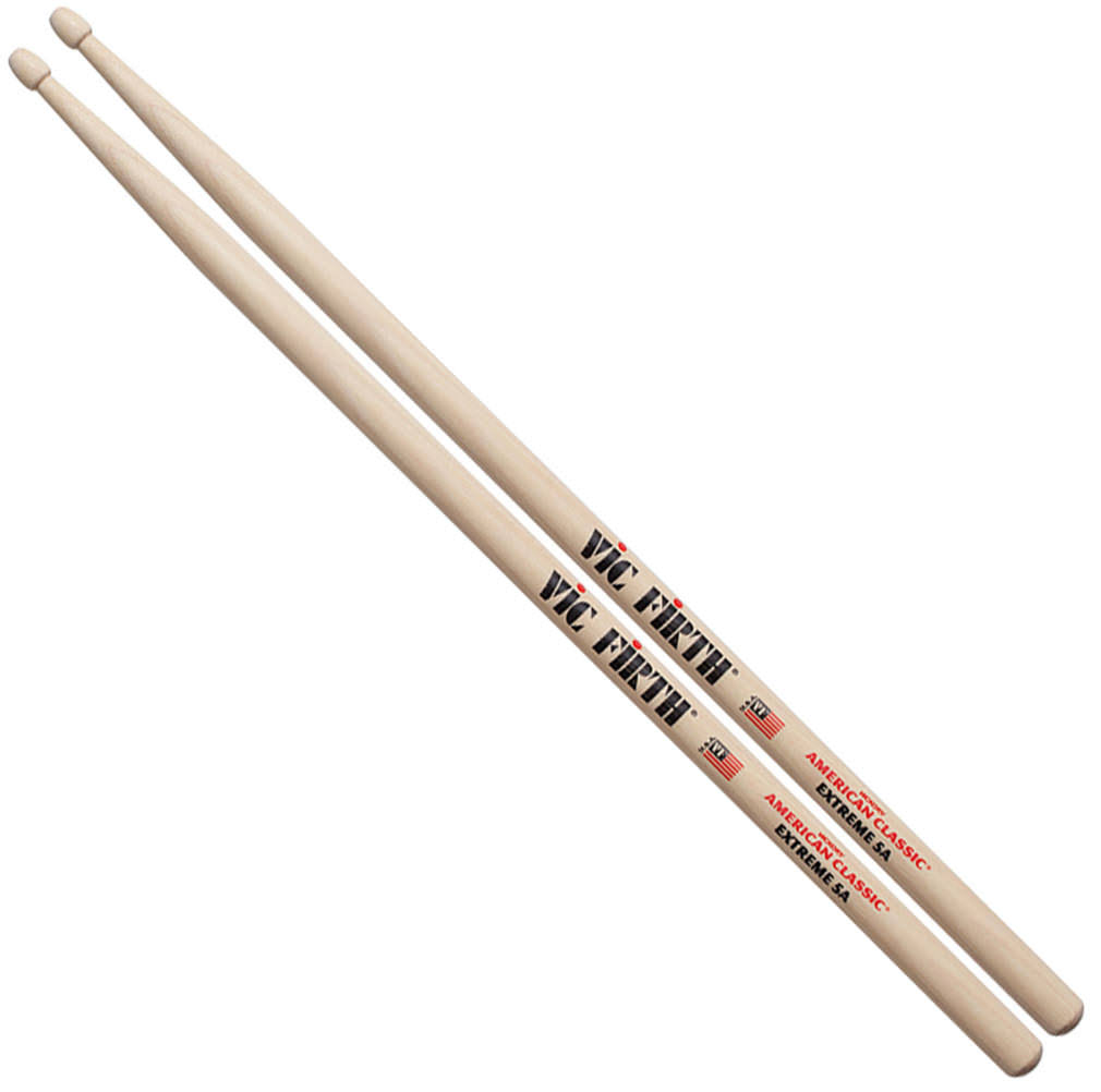 Vic Firth X5A American Classic 5A Extreme Wood Tip Drumsticks