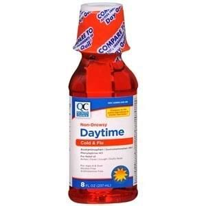 Quality Choice Daytime Non-Drowsy Cold & Flu Liquid 8 Ounce Each