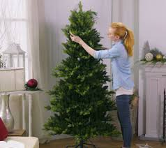 Bethlehem Lights Christmas Trees Qvc by Bethlehem Lights 6 5 Prelit Noble Spruce Tree W Multi Functions