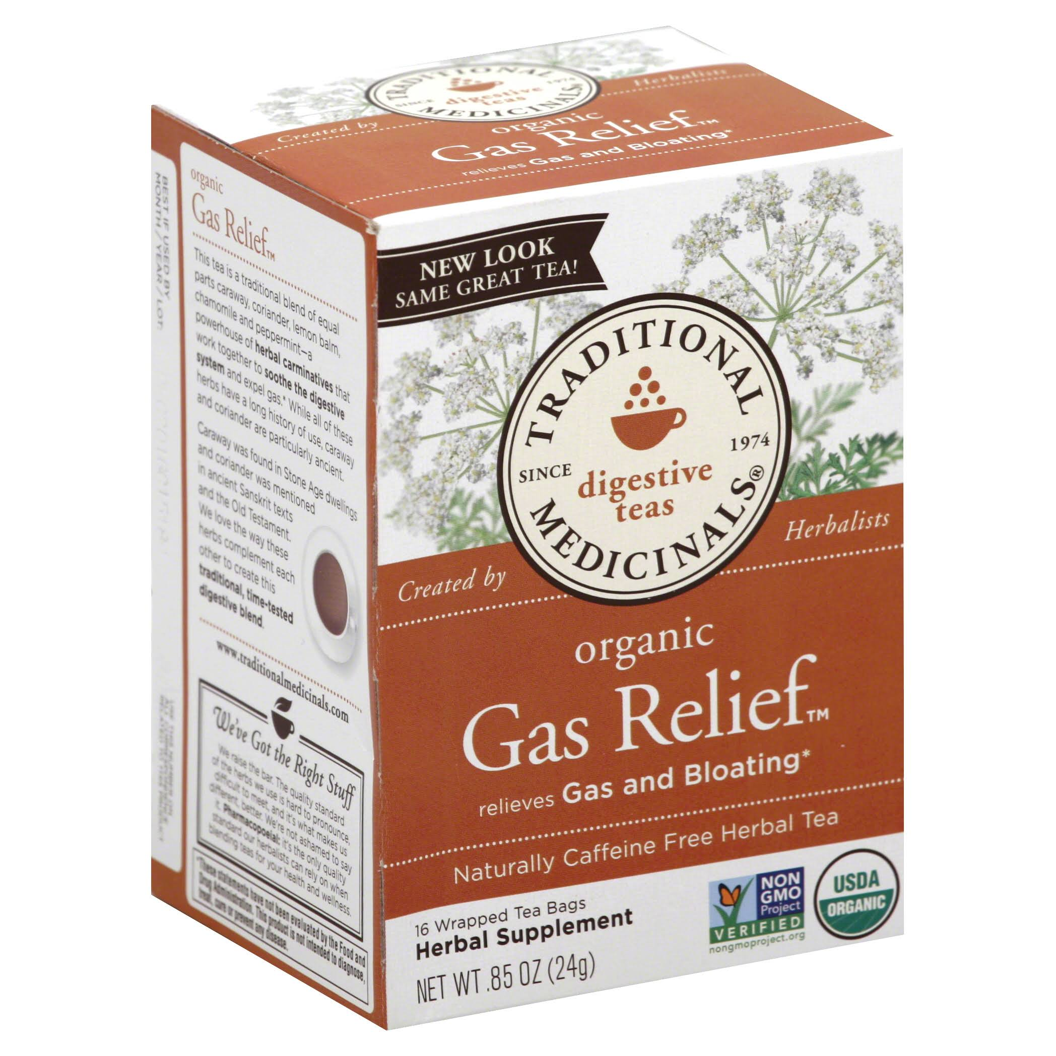 Traditional Medicinals Organic Gas Relief Tea - 16 Tea Bags