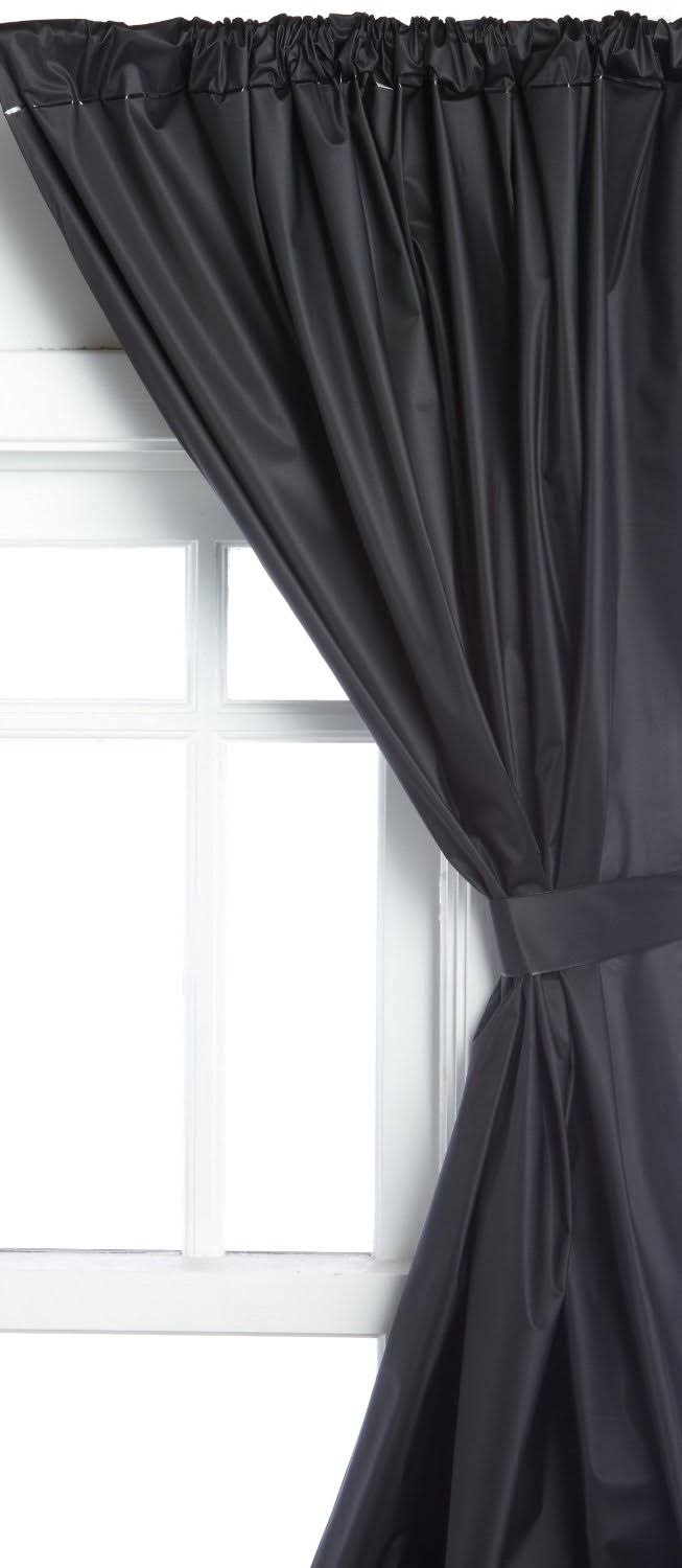 Carnation Home Fashions Vinyl Window Curtain in Black