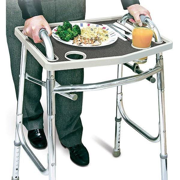 North American Health and Wellness Walker Tray - with Non-slip Grip Mat