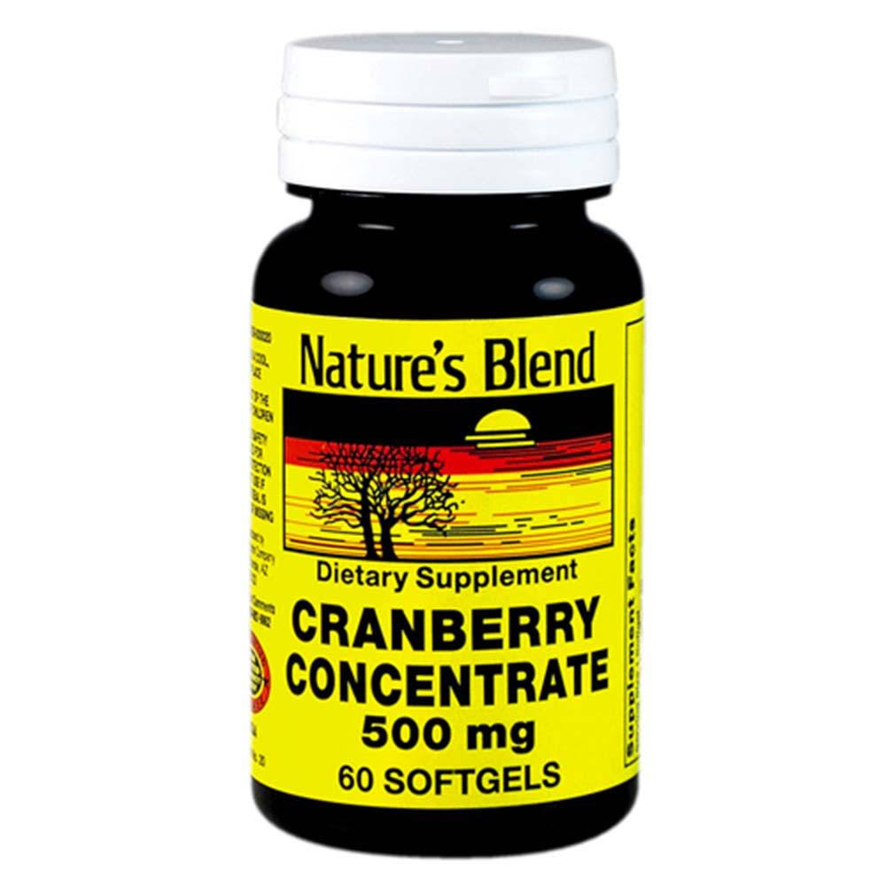 Natures Blend Cranberry Concentrate - Supplement, 500mg, 60 Softgels