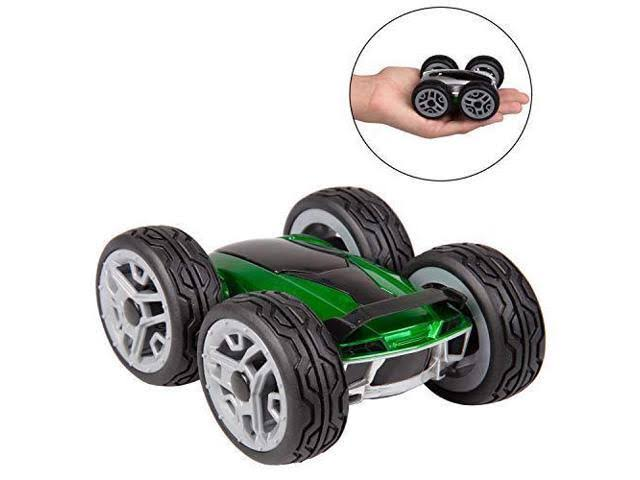 California Creations Dyno RC Insane Stunt Car - Psycho - Remote Control Toy Car Spins and Flips - Green/Silver - Ages 6+