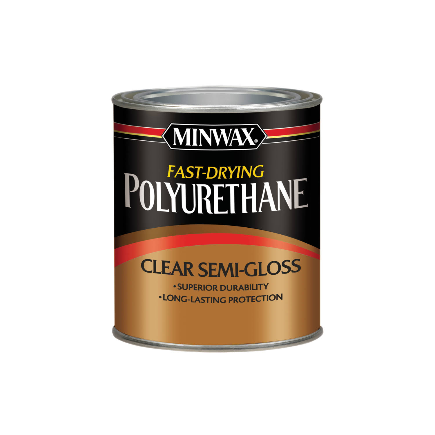 Minwax Fast Drying Polyurethane Varnish - Clear, Semi-Gloss Finish, 1 Quart