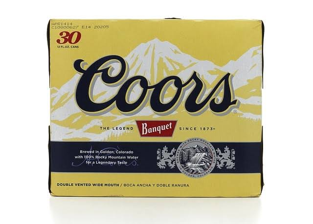 Coors Banquet Beer - 30 Cans