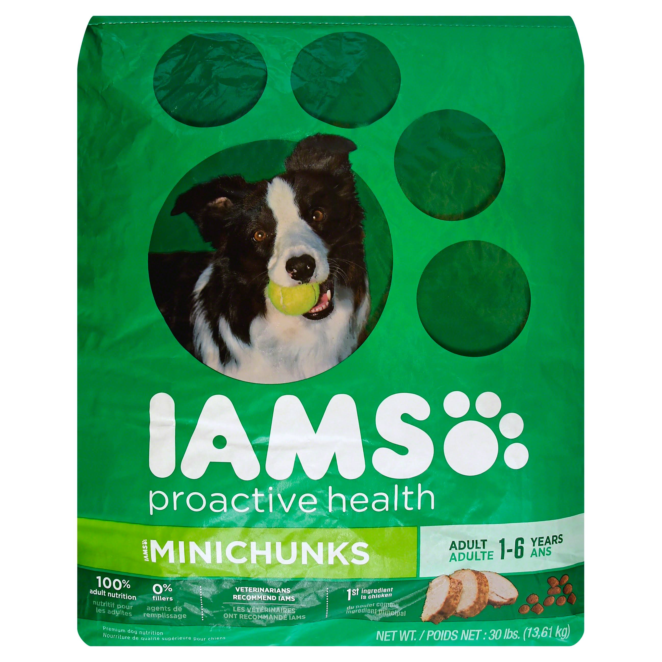 Iams Proactive Health Adult Minichunks Premium Dry Dog Food - 30lbs