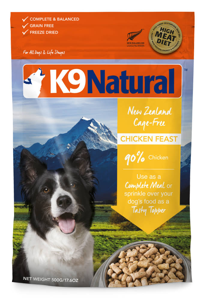 K9 Natural Freeze Dried Dog Food - Chicken Feast, 2.2lbs