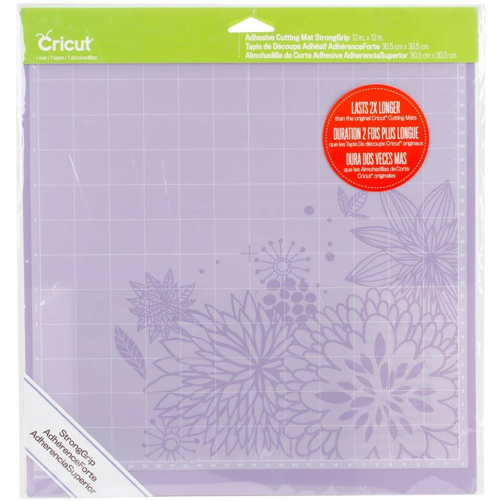 "Cricut Cutting Mat - 12"" x 12"", StrongGrip"