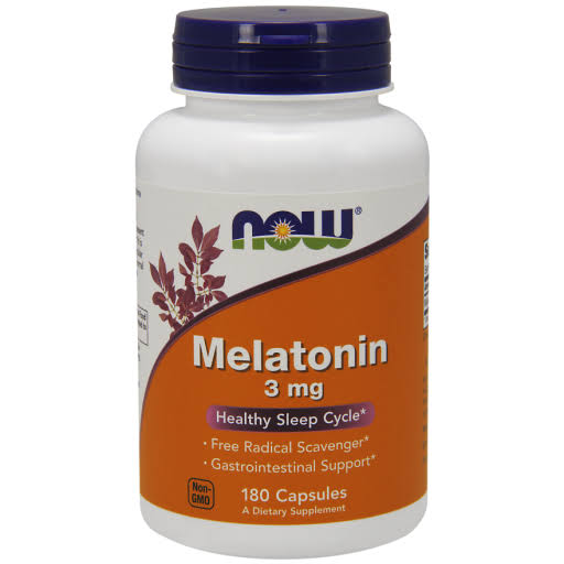 Now Foods Melatonin - 3mg, 180 Capsules