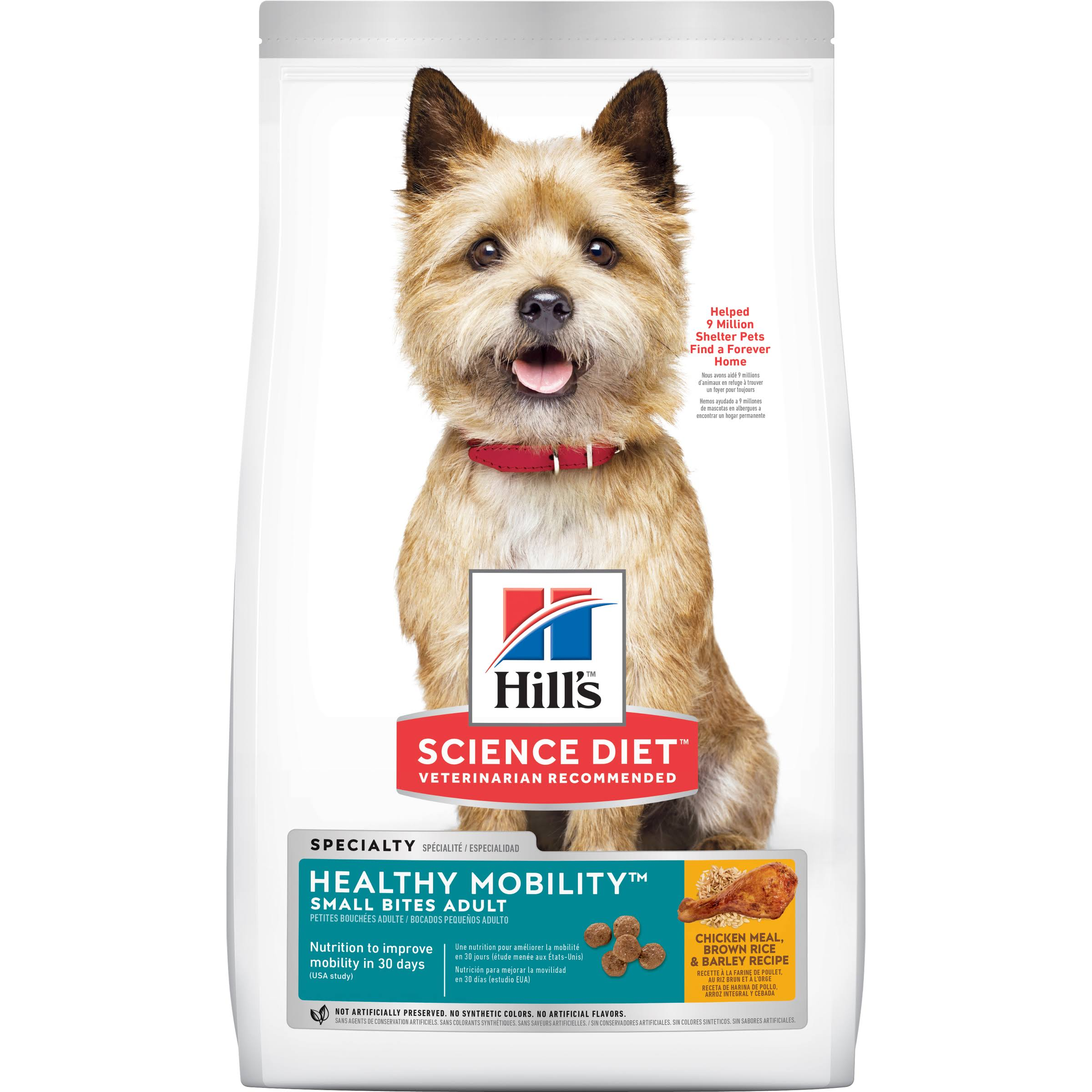 Hill's Science Diet Small Bites Dog Food - Adult, 15.5lb, Chicken Meal & Rice Recipe
