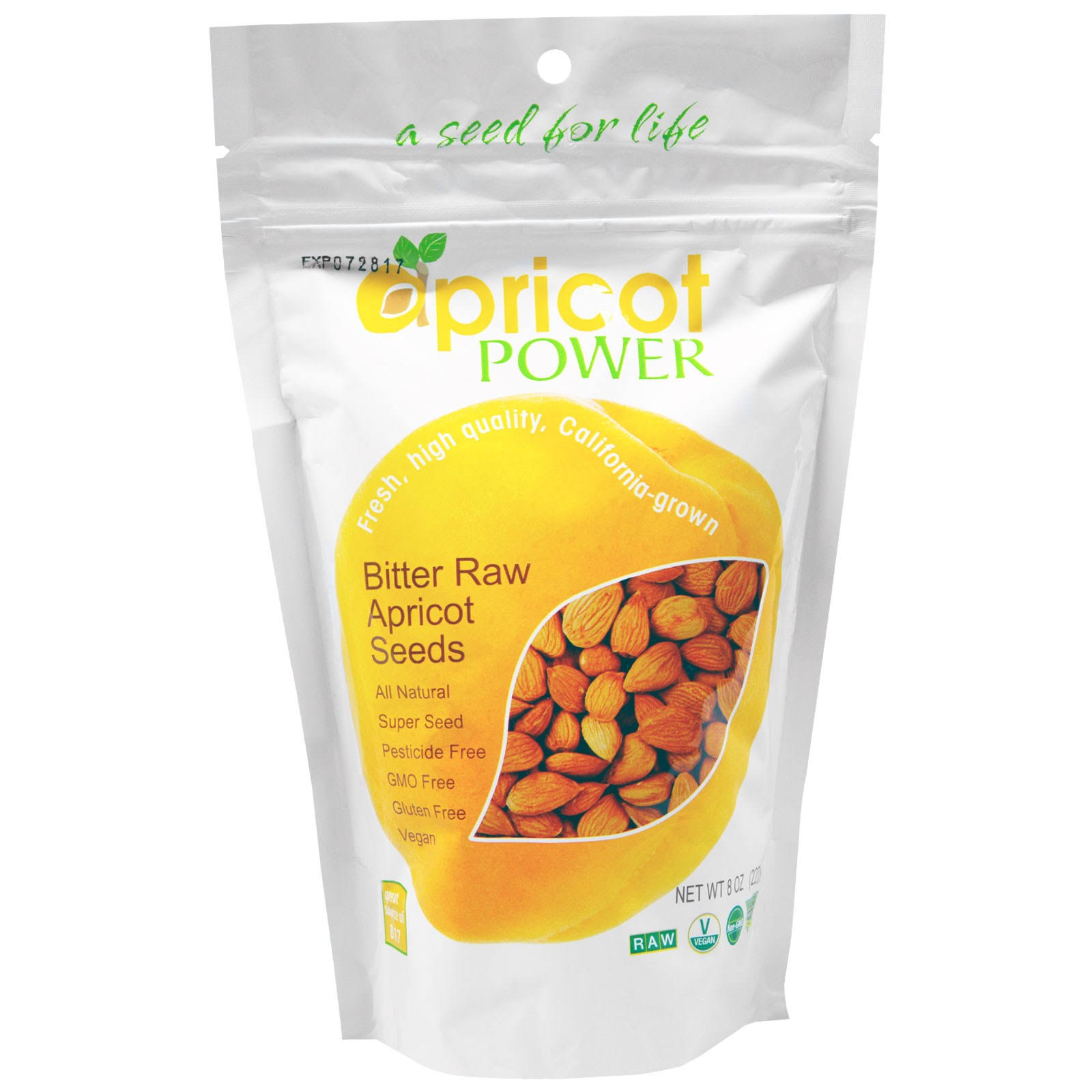 Bitter Raw Apricot Kernels Seeds - 8oz