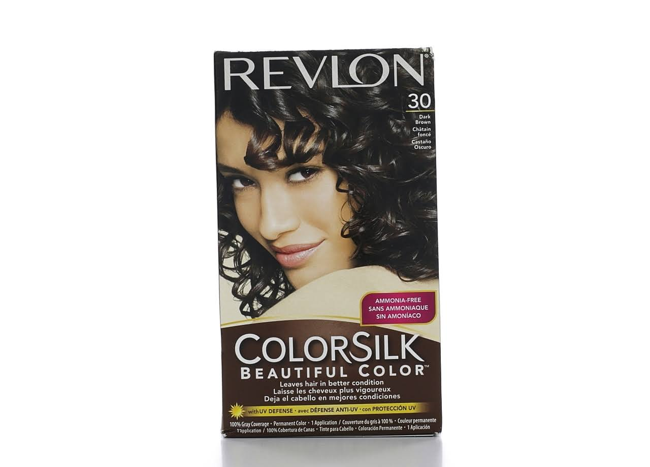 Revlon Color Silk Permanent Hair Color - Dark Brown 30