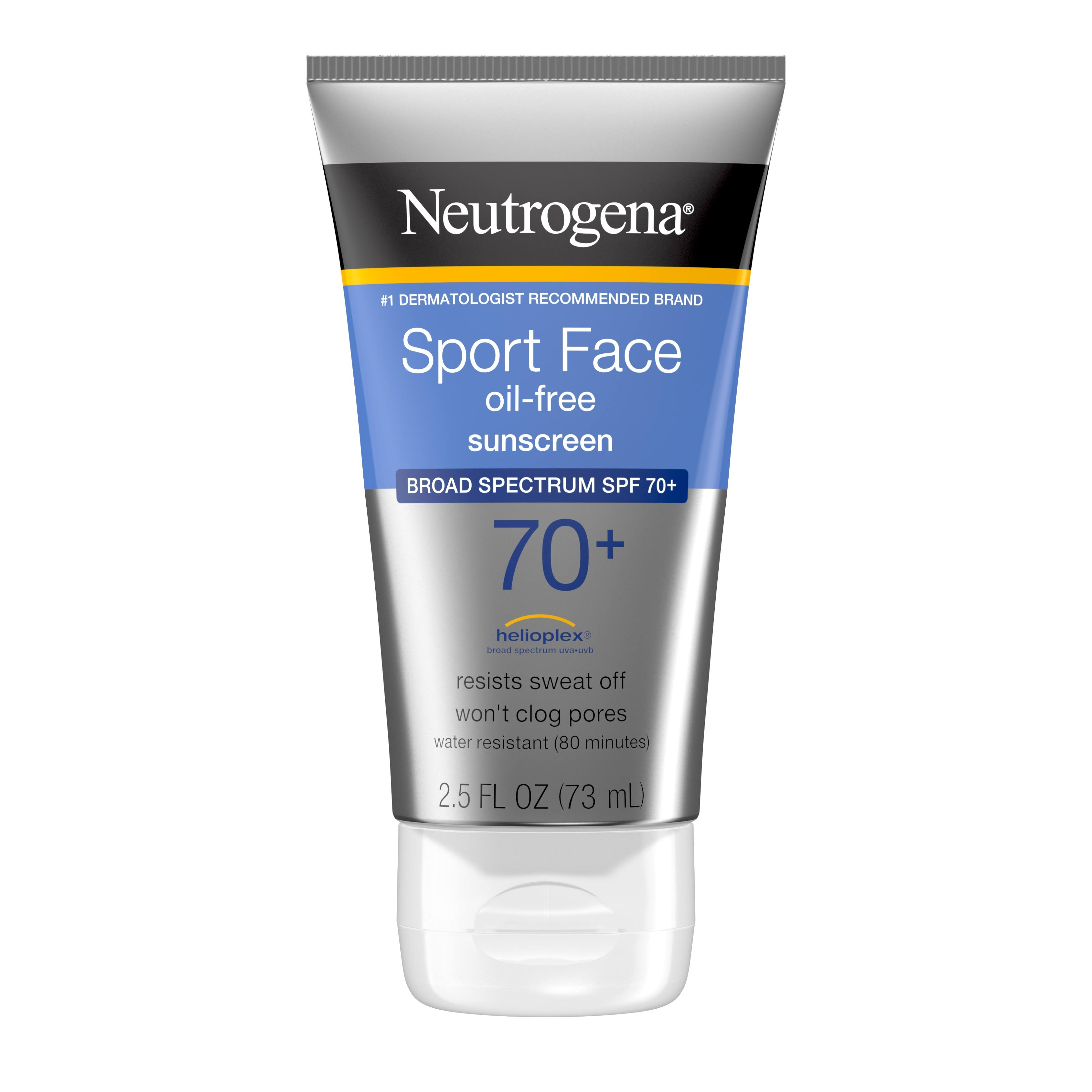 Neutrogena Ultimate Sport Face Sunblock Lotion - SPF 70, 2.5 fl oz, 73 ml, 2 Count