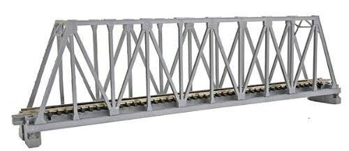 "Kato N 248mm 9-3/4"" Truss Bridge, Silver"