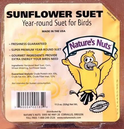Natures Nuts 00165 11.5 oz Sunflower Suet Dough