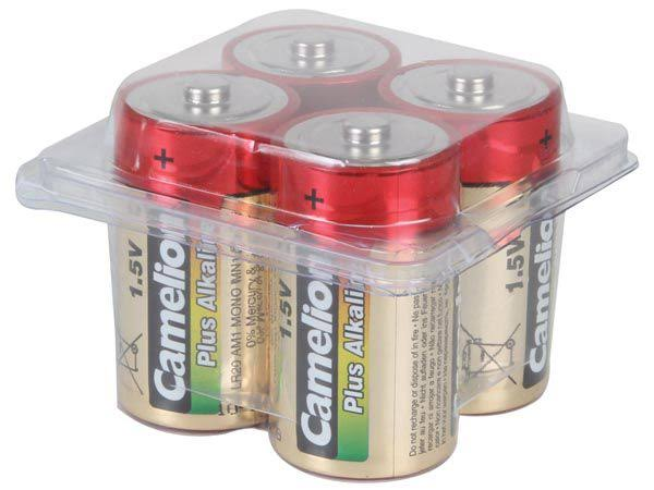 Camelion Alkaline Plus D Batteries Blister Pack of 4