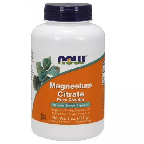 Now Magnesium Citrate Pure Powder 8 oz