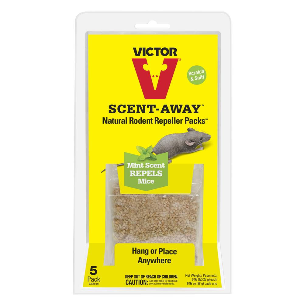 Victor Scent-Away Natural Rodent Repeller Packs - Five Bags