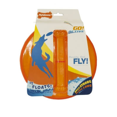 Nylabone Go Active Flying Disc Dog Toy