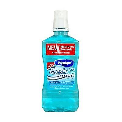 Wisdom Fresh Effect Antibacterial Mouthwash - Coolmint, 500ml