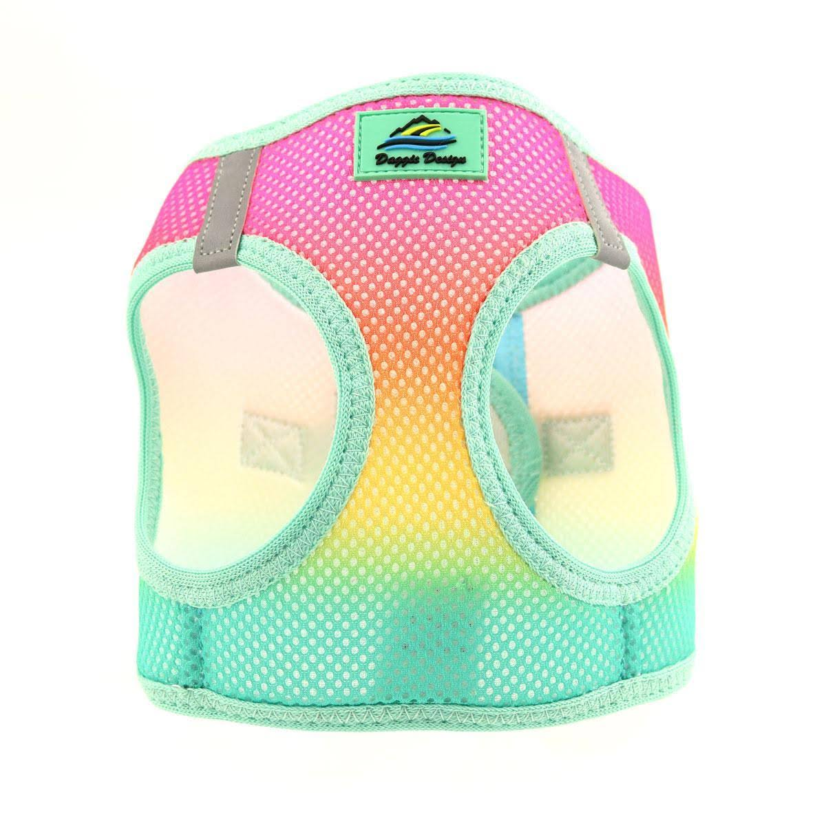 Doggie Design American River Choke Free Ombre Collection Dog Harness Beach Party / X-Small