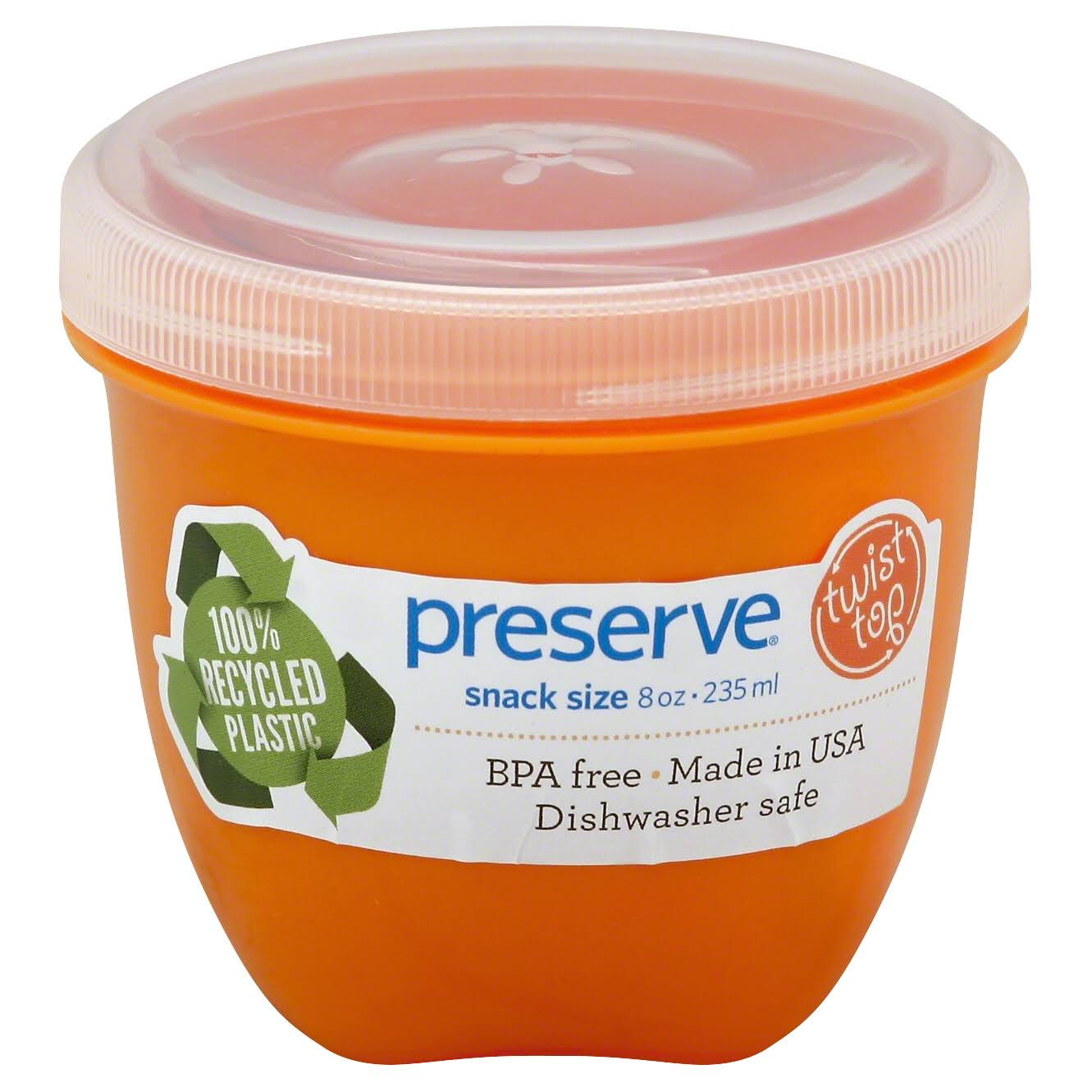 Preserve Mini Food Storage Containers - Orange, 8oz