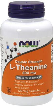 Now Foods L-Theanine Stress Management - 200mg, 120 Vegetarian Capsules