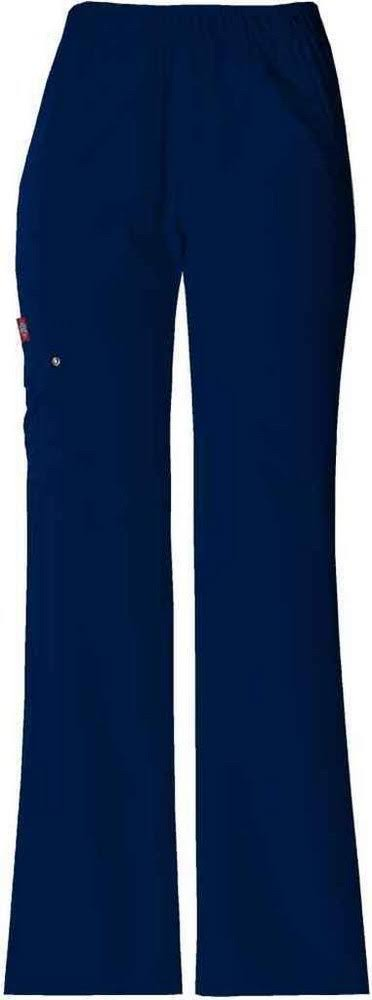 Dickies Elastic Waist Pull On Pant Scrub Bottoms - Navy, X-Small