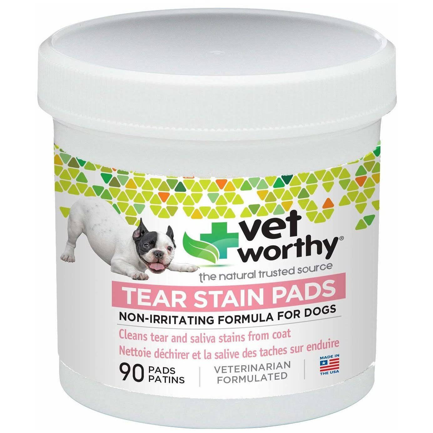Vet Worthy for Dogs Tear Stain Pads - 90ct