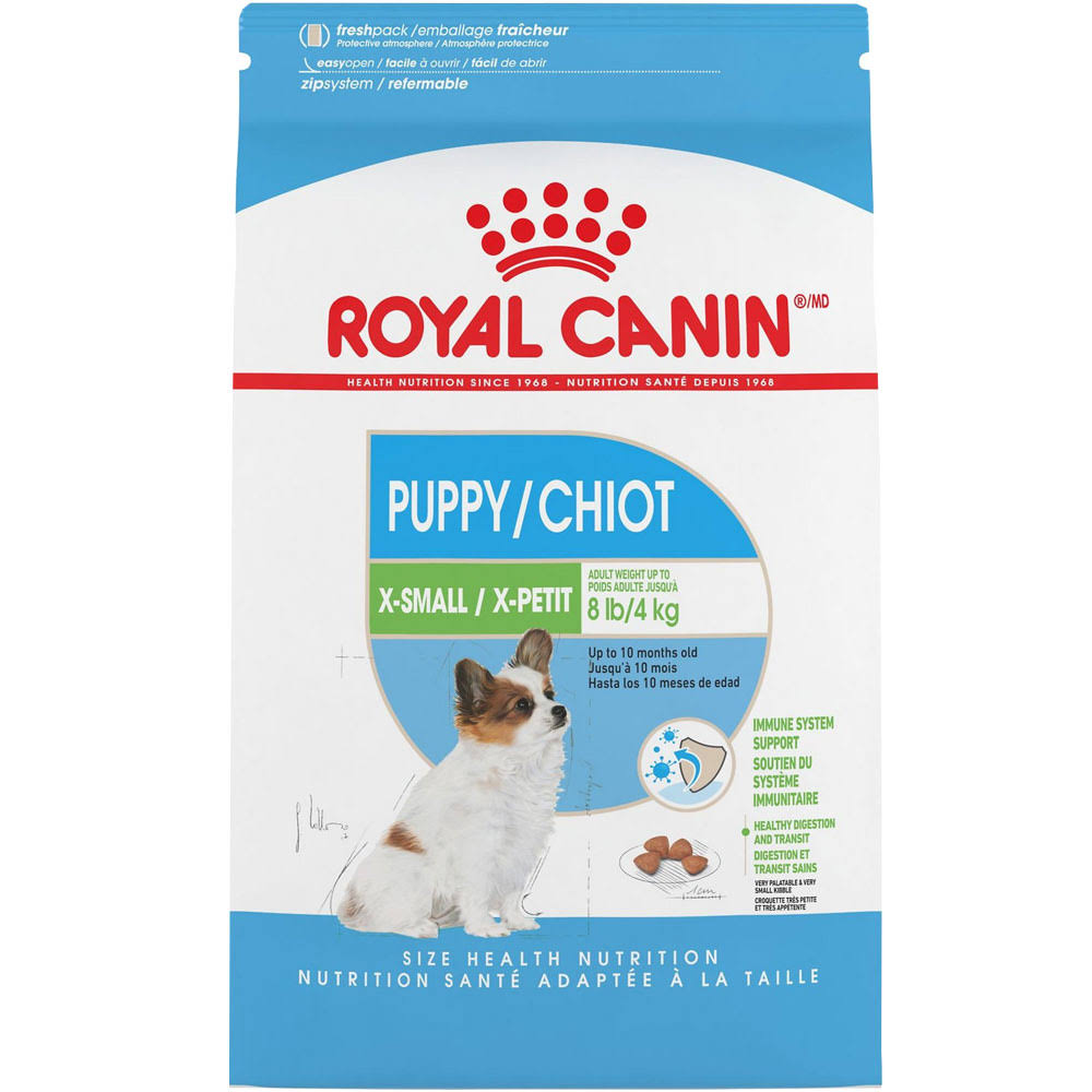 Royal Canin B0076l2wu2 Size Health Nutrition X-Small Puppy Dry Dog Food - 3lbs