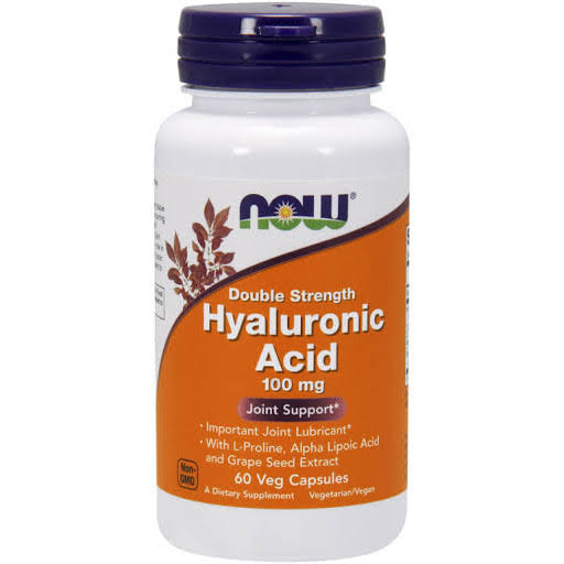Now Foods Hyaluronic Acid - 100mg, 60 Vcaps