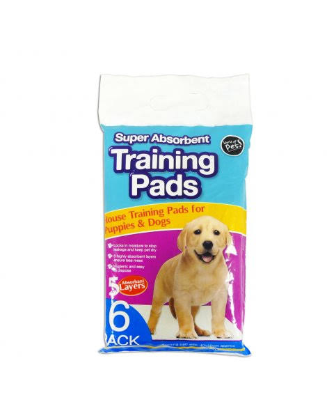 Super Absorbent Puppy Training Pads 6 Pack