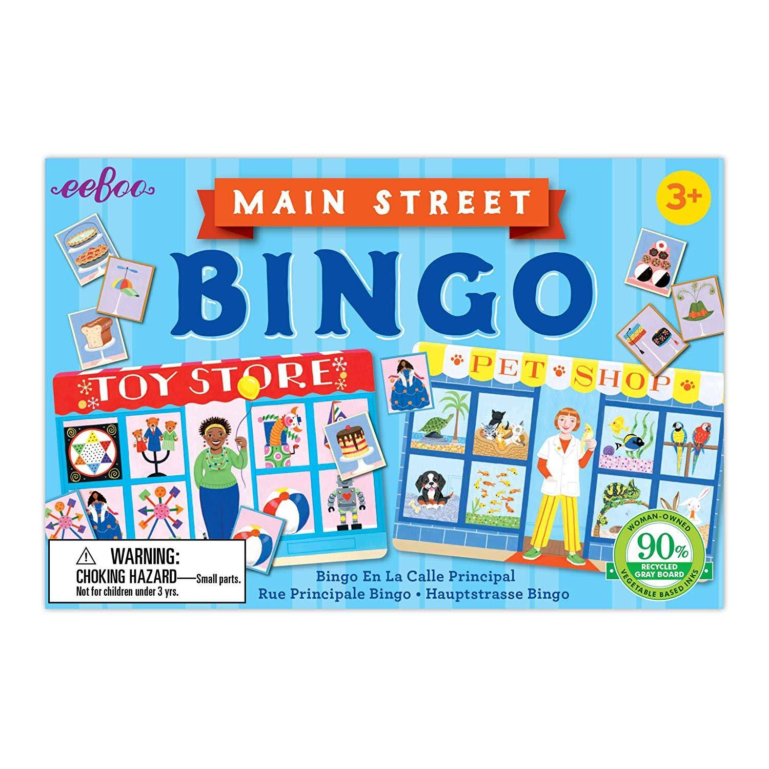 eeBoo Main Street Little Bingo Game