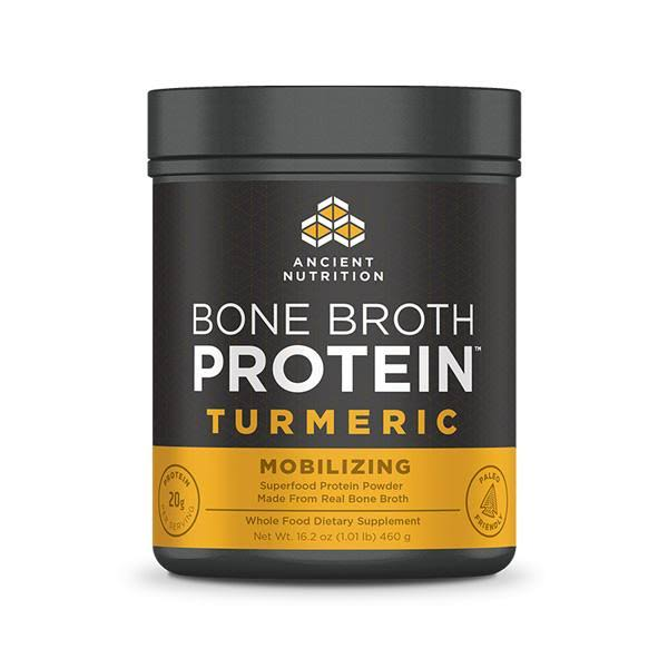 Ancient Nutrition Bone Broth Protein Turmeric Sports Supplement - 460g