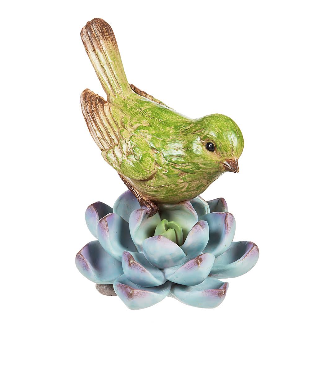 Evergreen Statuaries - Blue Perching Bird Figurine